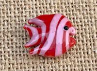 1 | Red & Pink Tropical Fish Lampwork Bead