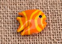 1 | Orange & Yellow Tropical Fish Lampwork Bead