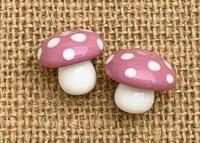 Pink toadstool mushroom beads
