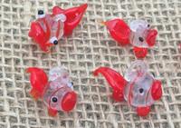 1 | Gold Koi Fish Lampwork Charm