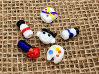 6 | Artist Painting Set Lampwork Glass Beads