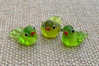 1 | Green Tropical Island Bird Beads
