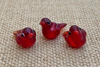 1 | Red Tropical Island Bird Beads