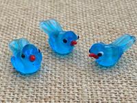 1 | Blue Tropical Island Bird Beads
