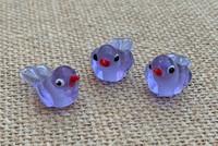 1 | Purple Tropical Island Bird Beads