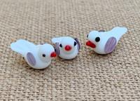 1 | White Bird Lampwork Beads