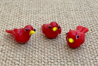 1 | Red Bird Lampwork Beads