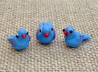 1 | Purple Bird Lampwork Beads