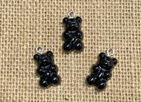 1 | Black Gummy Bear Acrylic Charms