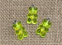 1 | Lime Green Gummy Bear Acrylic Charms