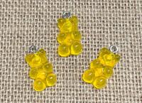 1 | Golden Yellow Gummy Bear Acrylic Charms