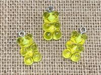 1 | Sunny Yellow Gummy Bear Acrylic Charms