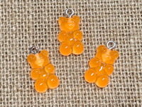 1 | Orange Gummy Bear Acrylic Charms