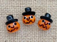 1 | Top Hat Jack O lantern Lampwork Beads
