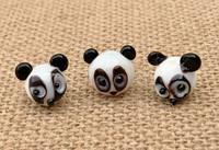 1 | Panda Bear Head Lampwork Glass Bead
