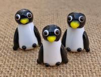 1 | Winter Penguins Lampwork Glass Beads