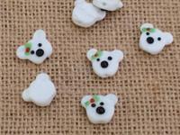 1 | Christmas Polar Bear Lampwork Beads