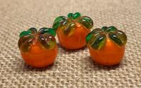 1   Plump Pumpkin Lampwork Glass Beads