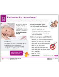 Pneumonia Prevention Tearpad (50 sheets per pad) (263A) - front side