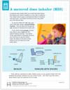 Pediatric MDI Use tearpad - front side