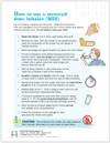 Pediatric MDI Use tearpad - back side