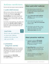 Asthma Medicine Chart Tearpad (50 sheets per pad) (329A) back side