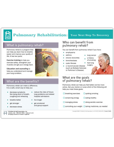 Pulmonary Rehab Tearpad (50 sheets per pad) (332A) - front side