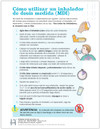 Spanish Pediatric Asthma MDI Use Tear Sheet (275AS) - back side