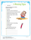 Pediatric Asthma Warning Signs Tear Sheet (277A) - front side