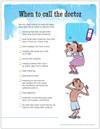 Pediatric Asthma Warning Signs Tear Sheet (277A) - back side