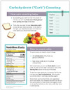 Diabetes Carbohydrate Counting Tearpad (50 sheets per pad) (349A) - back side