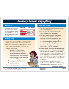 Coronary Balloon Angioplasty Tearpad (50 sheets per pad)