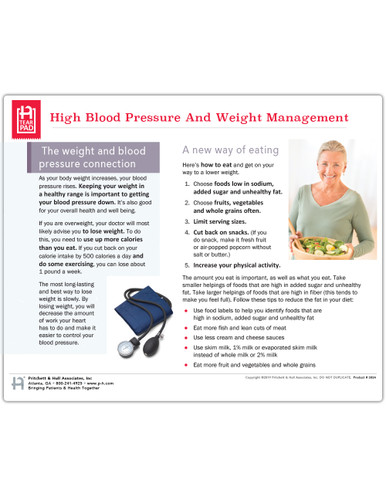 HBP and Weight Mgmt Tearpad (50 sheets per pad) (383A) - front side