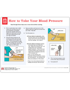 How to Take Your Blood Pressure Tearpad (50 sheets per pad) (384A) - front side