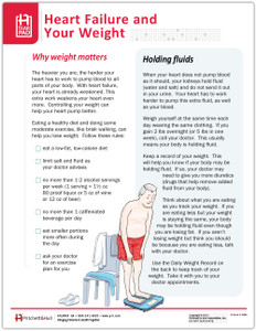 Heart Failure and your Weight Tearpad (368A) - front side