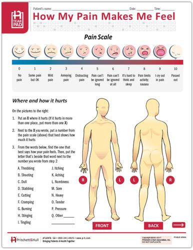 394A Pain Assessment Tearpad