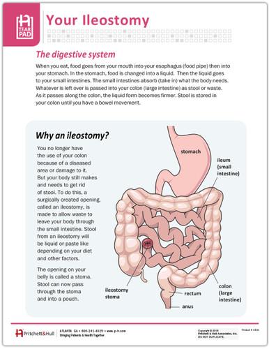 Your ileostomy tearpad - front side