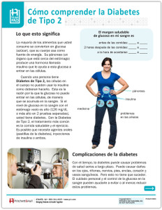 Spanish Type 2 Diabetes Tearpad (50 sheets per pad) (334S) - front side
