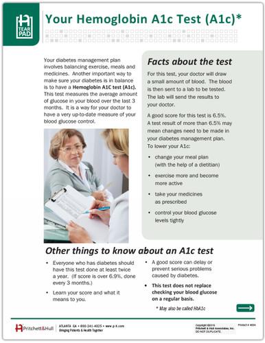 HbA1C Tests - front side