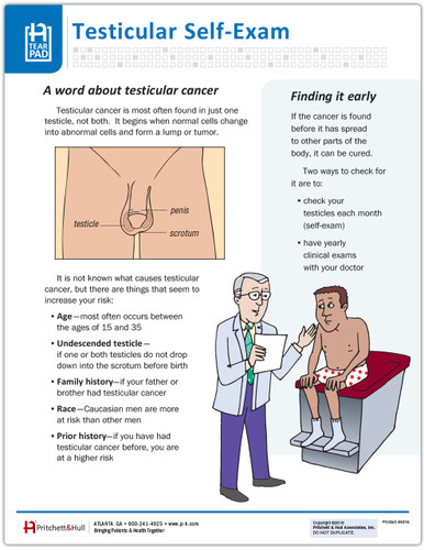 Testicular Self Exam -front side