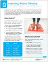 Learning About Obesity Tearpad (50 sheets per pad) (493A) - front side