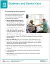 Diabetes and Dental Care Tearpad - back side