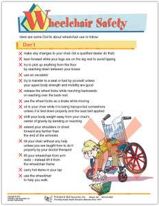 Wheelchair Safety Tear Sheet