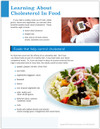 Learning About Cholesterol in Food Tear Sheet (593A) - back side