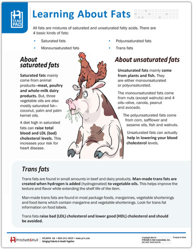 Learning About Fats Tear Sheet (594A) - front side