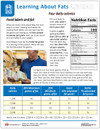 Learning About Fats Tear Sheet (594A) - back side