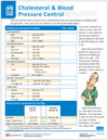 Cholesterol and BP Test Results Tear Sheet (596A) - front side