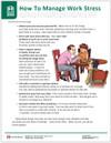 Work Stress Tearpad (598A) - back page