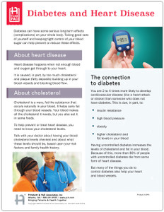 Diabetes and Heart Disease Tear Sheet (604A) -front side