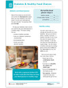 Diabetes & Food Large Print Tearpad - front side